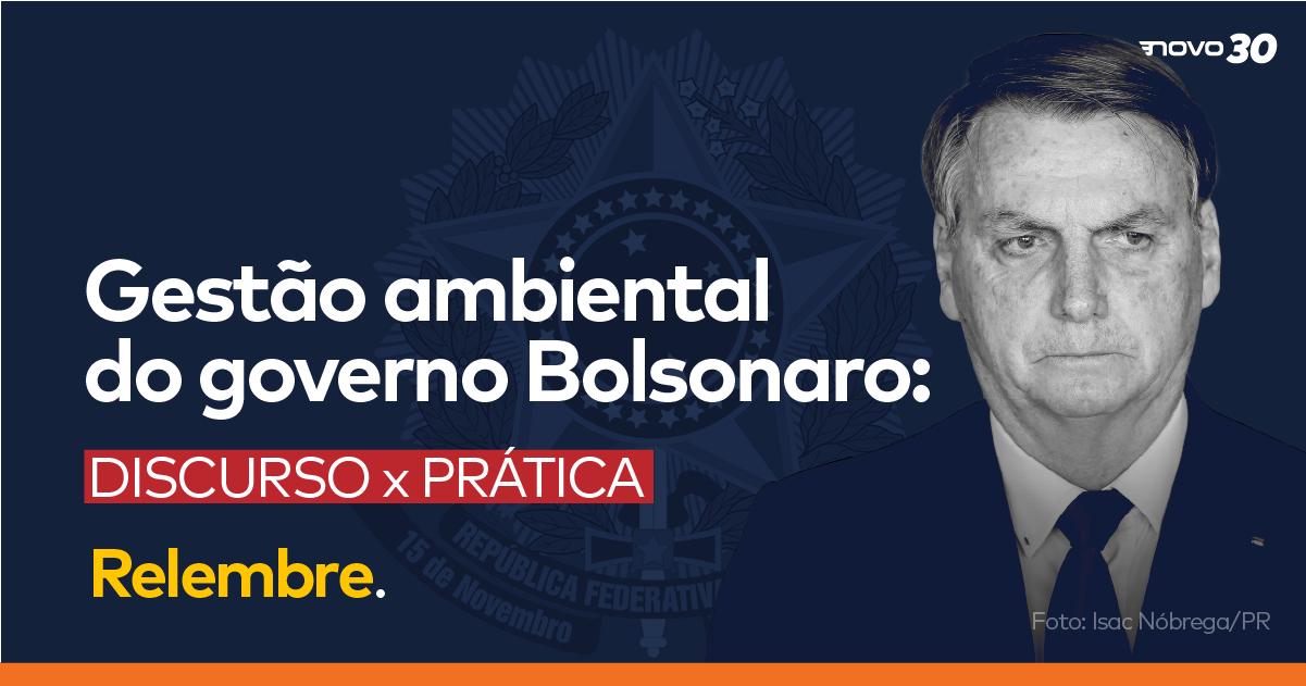 Gestão Ambiental do governo Bolsonaro: discurso x prática