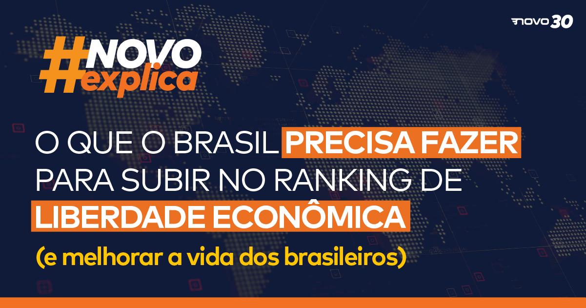 O que o Brasil precisa fazer para subir no ranking de liberdade econômica